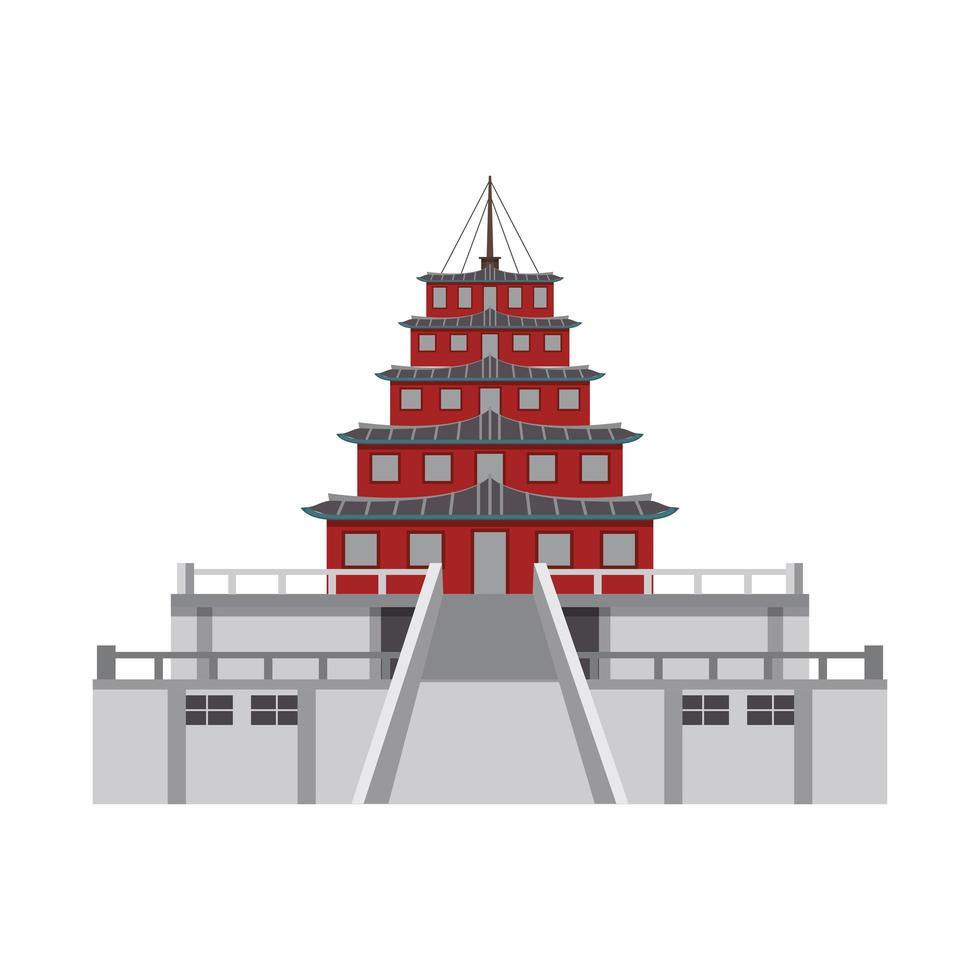 icono de palacio oriental vector