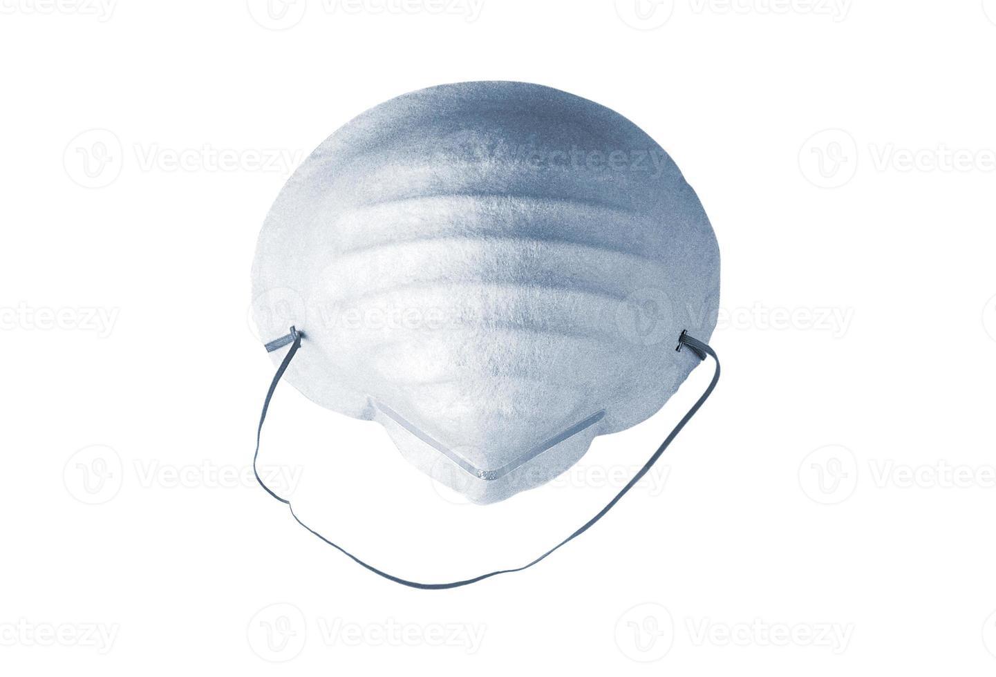 Mascarilla anti polvo para el cuidado de la salud aislado en blanco foto