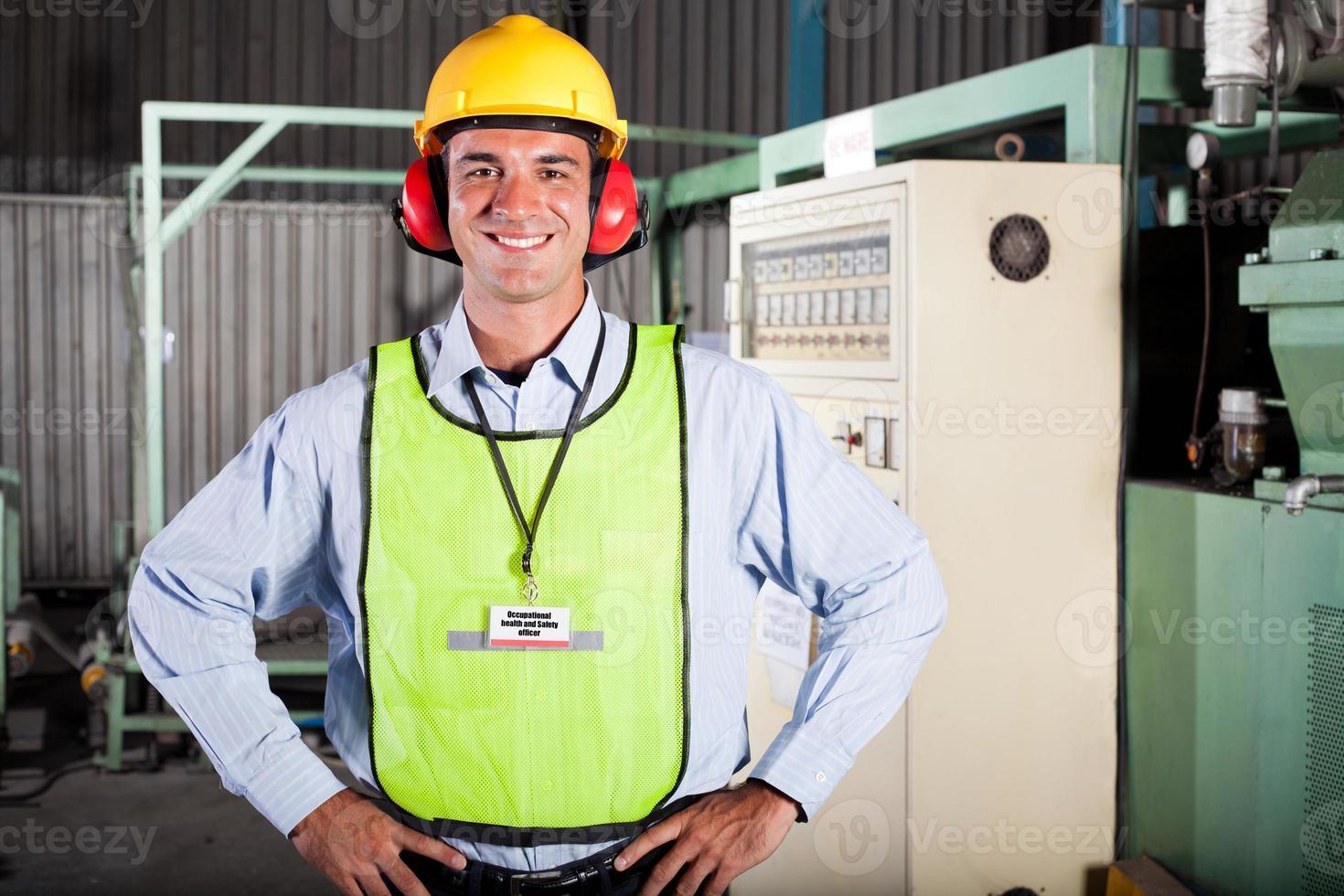 oficial de salud y seguridad industrial foto