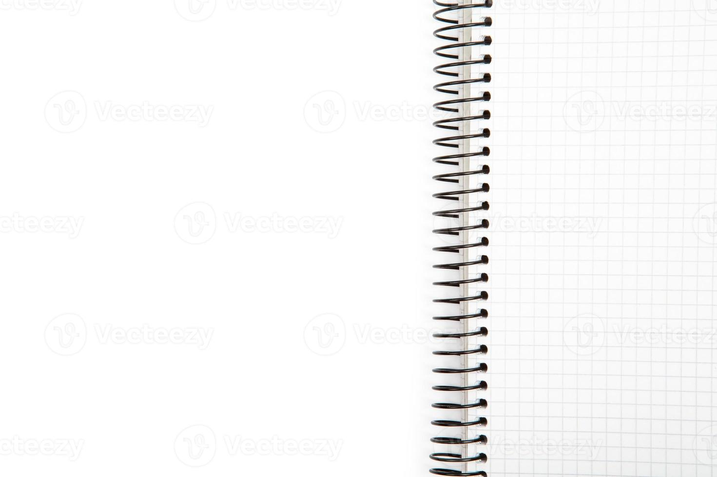 isolated notebook on a white background photo