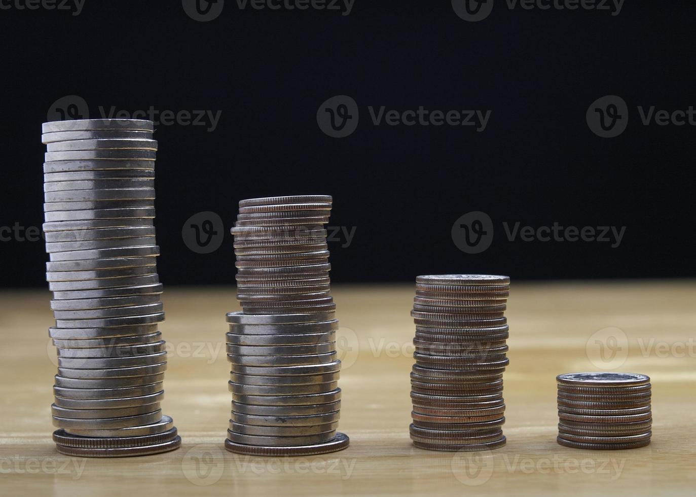 torres de monedas foto
