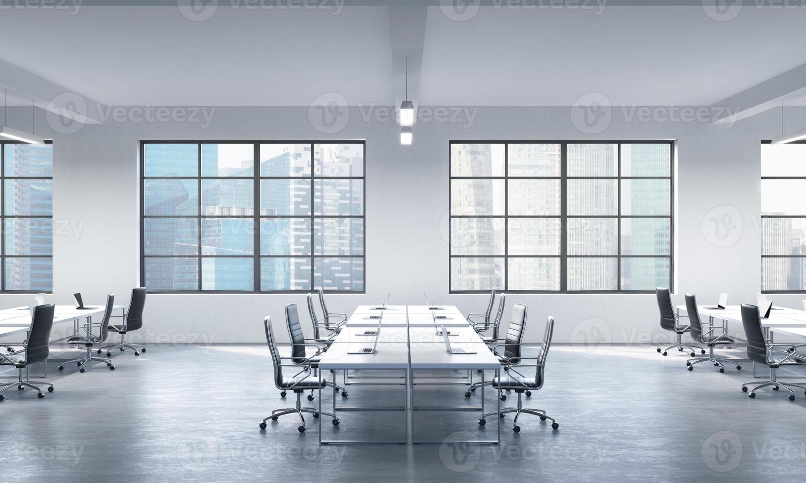 sala de conferencias o lugares de trabajo corporativos foto