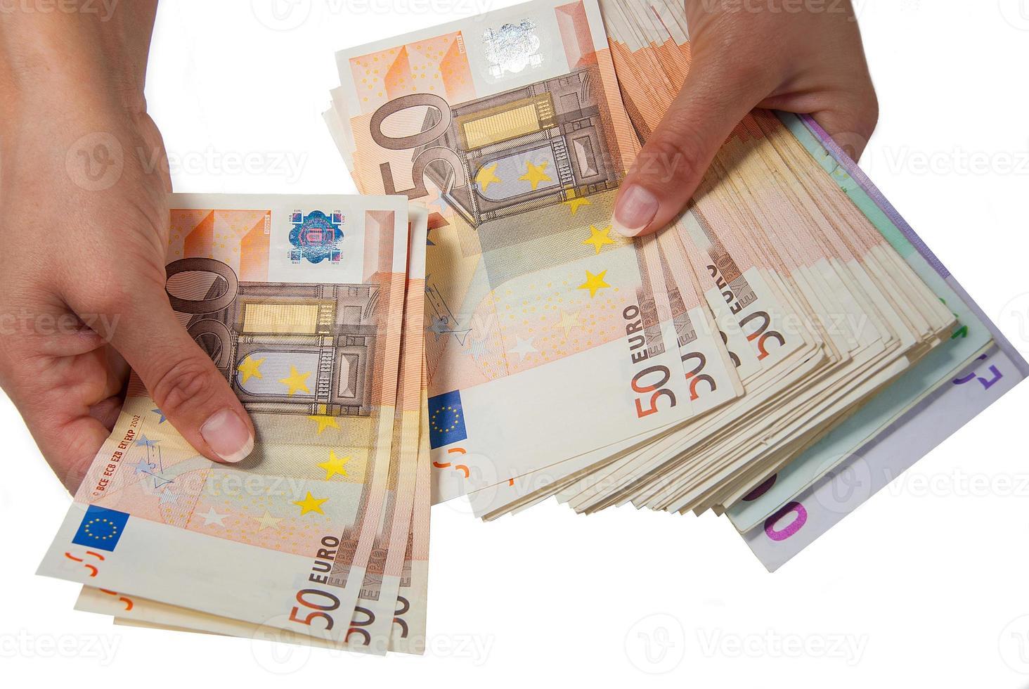 banknotes euro photo