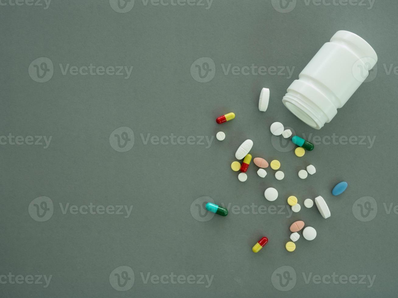 píldora de fondo foto