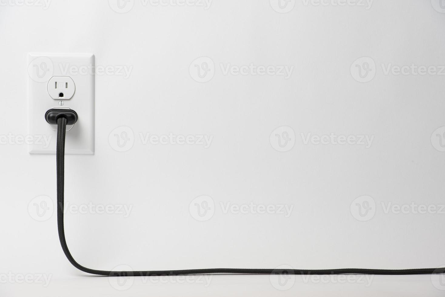Plug with lamp cord photo