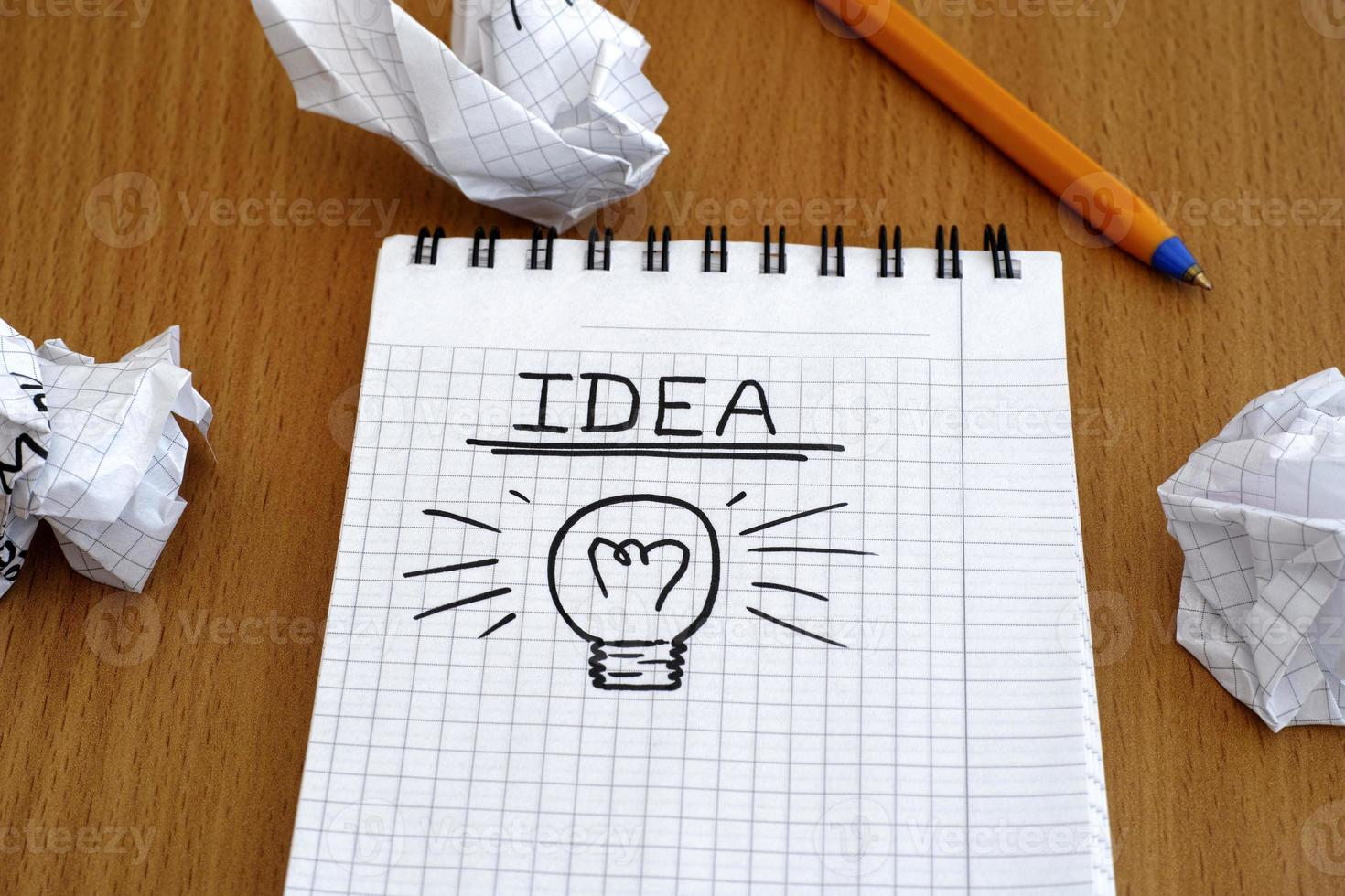 Idea and light bulb photo