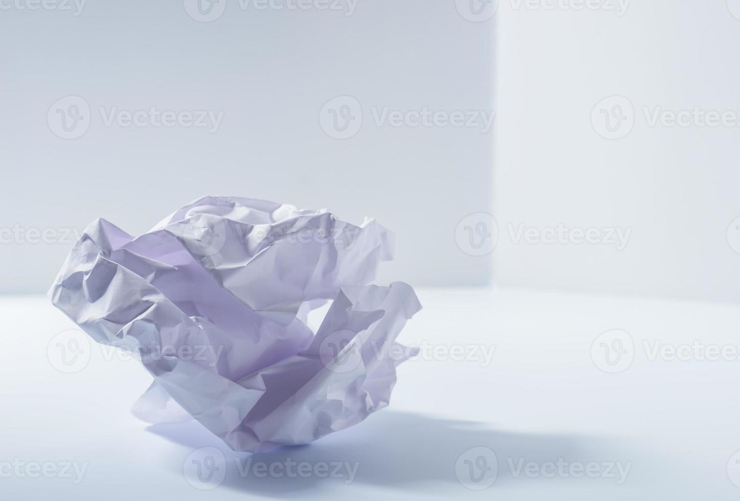 Crumpled paper. photo