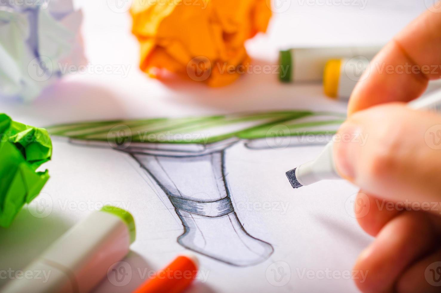 Designer Drawing photo