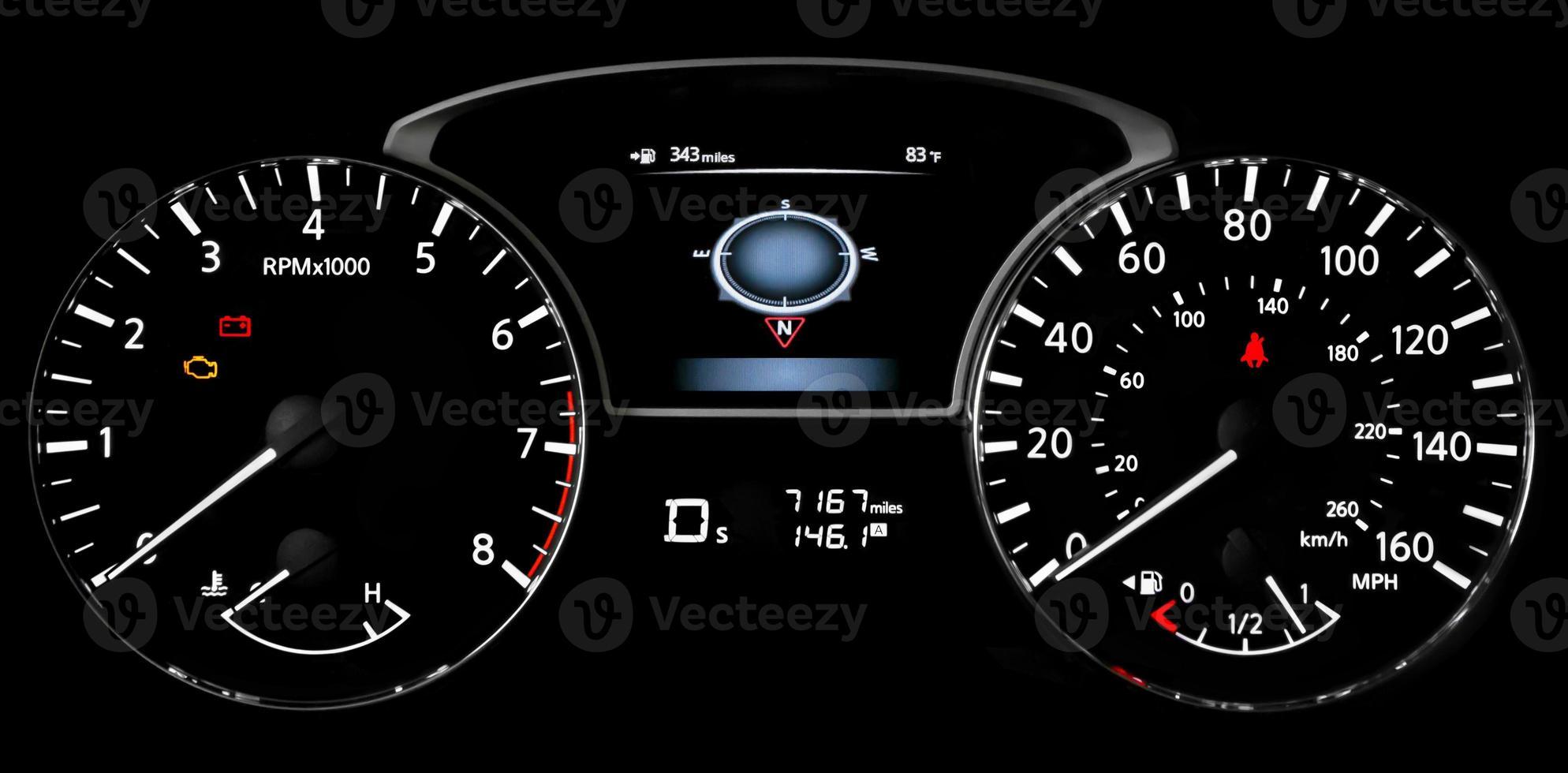 luces del tablero del coche foto