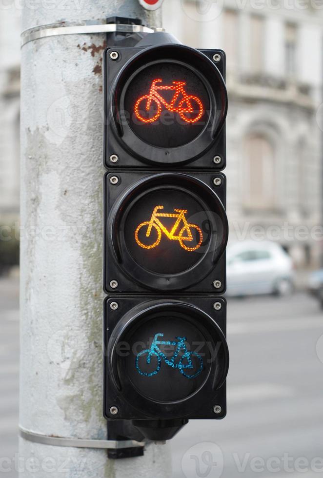 semáforo para bicicleta foto