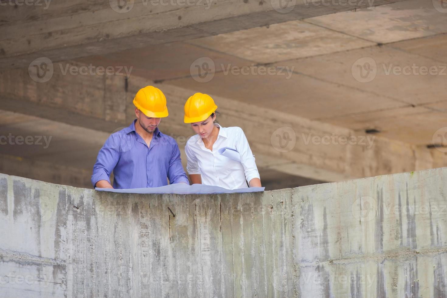 arquitecto gerente de construcción foto
