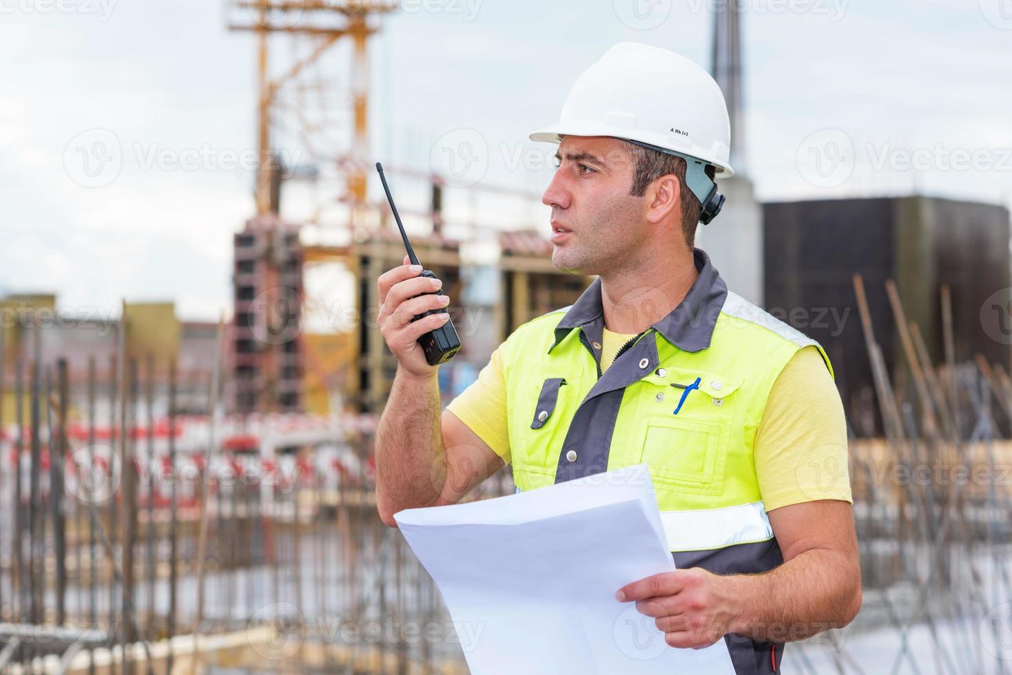 ingeniero civil en obra foto