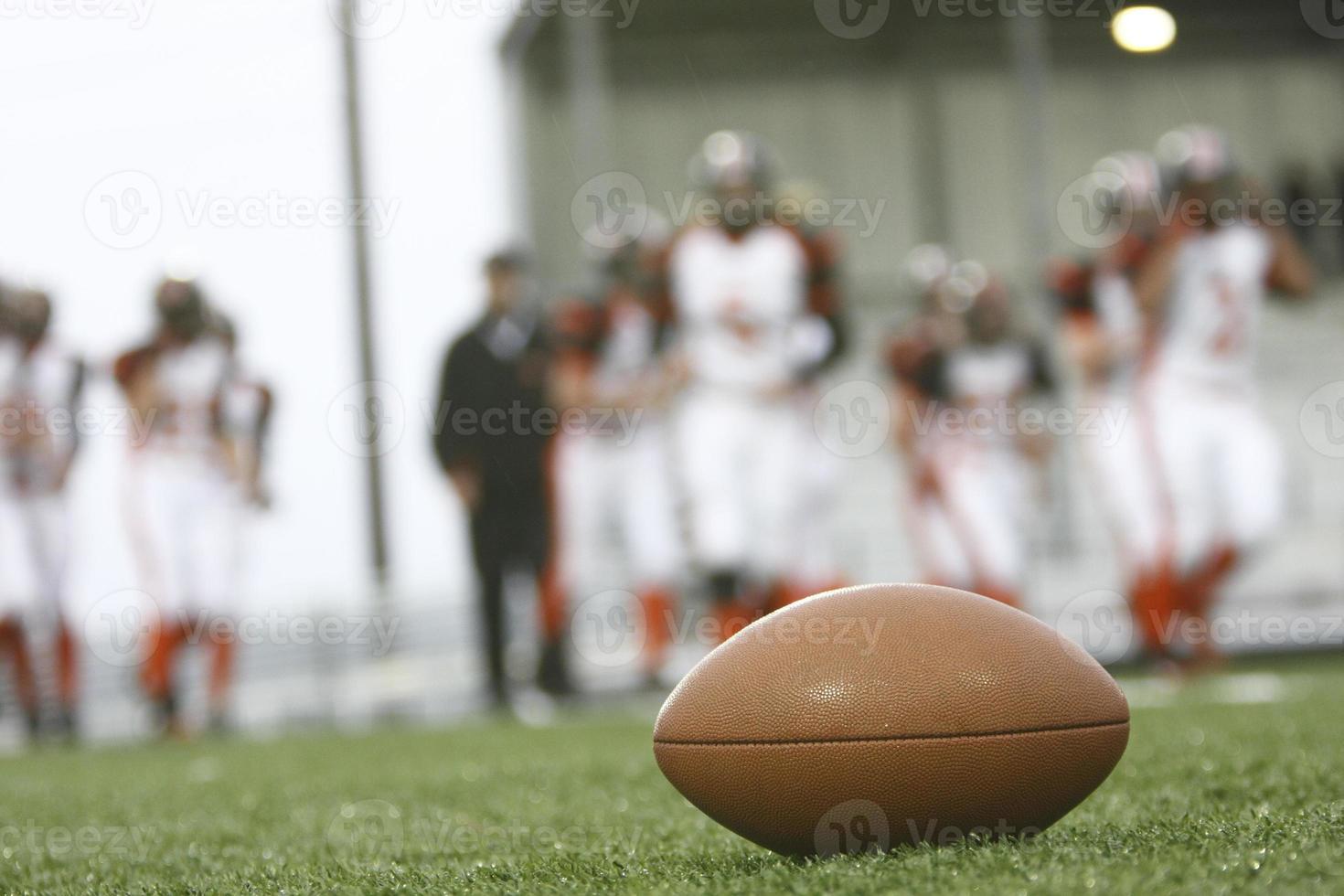 Football on the field photo