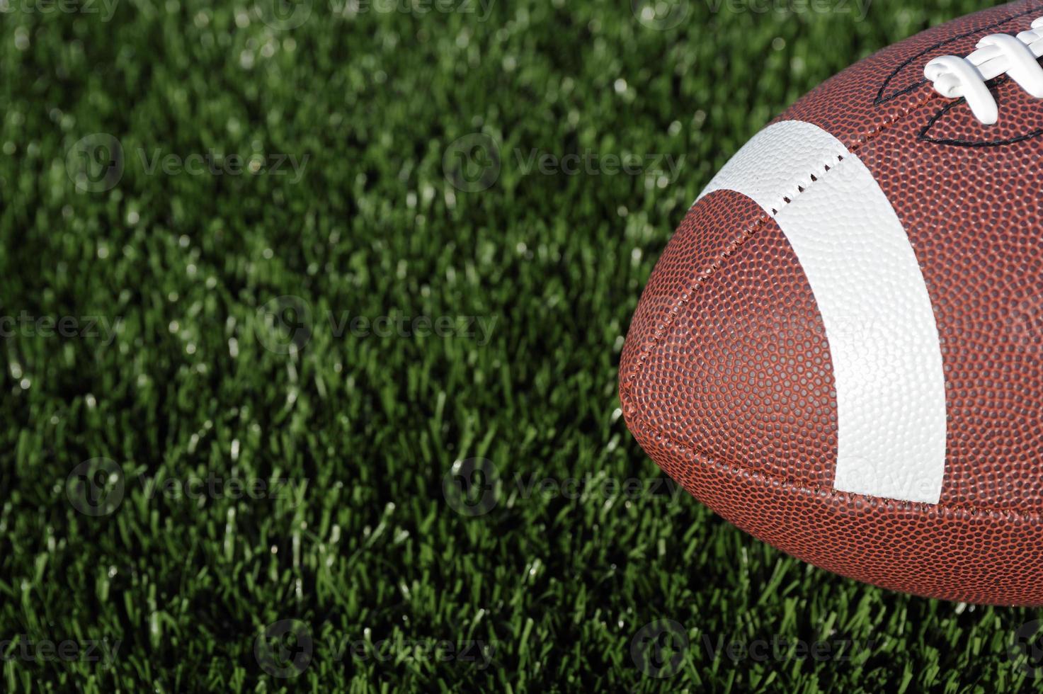 Football on field photo