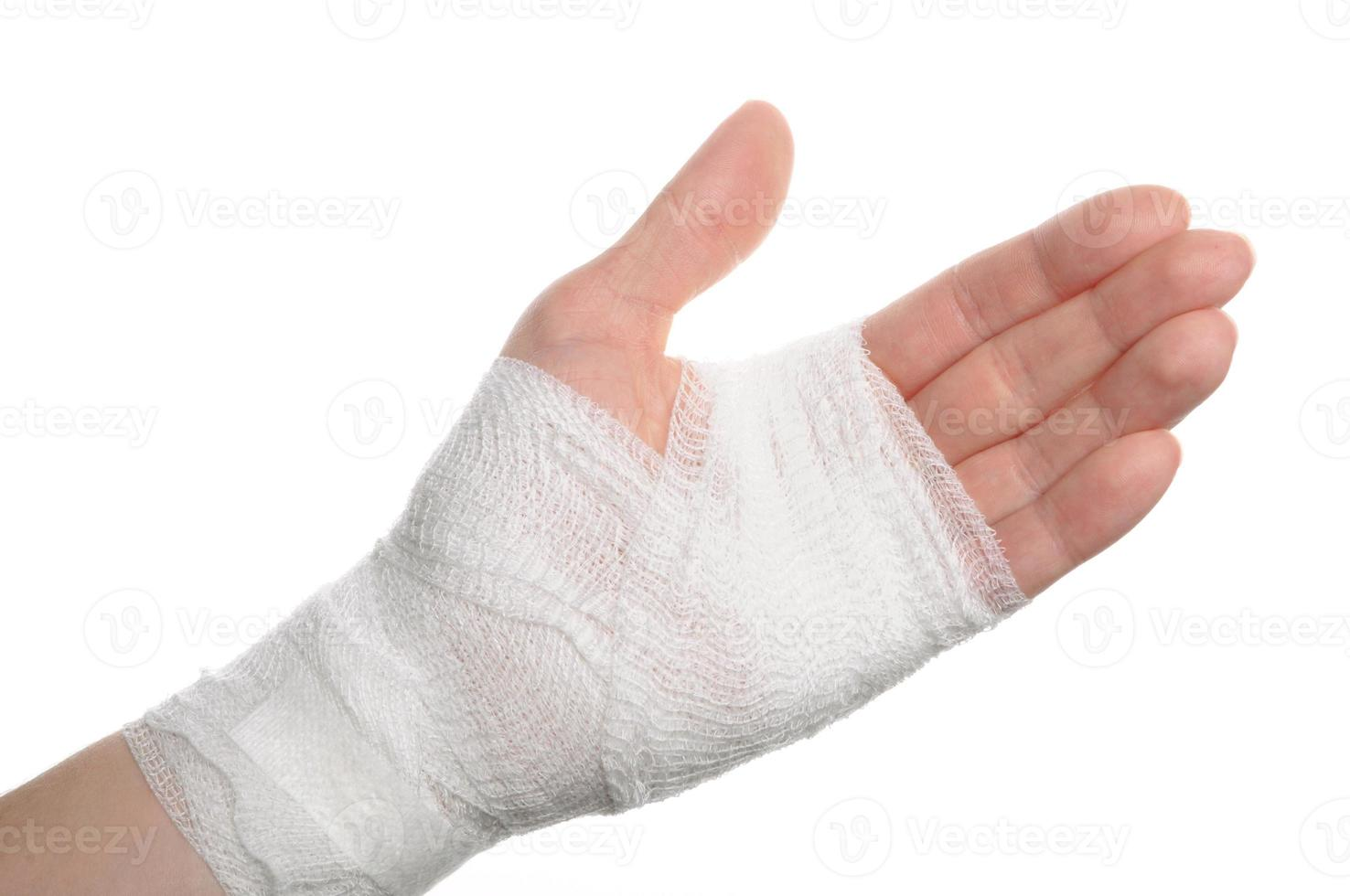 bandage on a hand photo