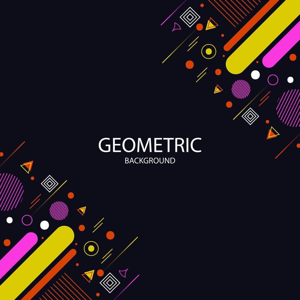 fond de cadre géométrique vecteur