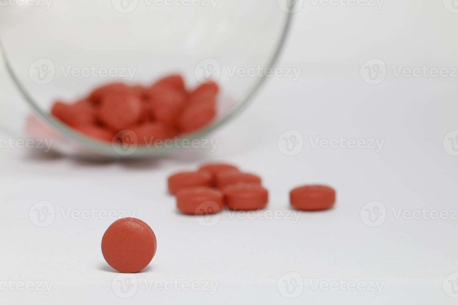 vaso de tabletas foto