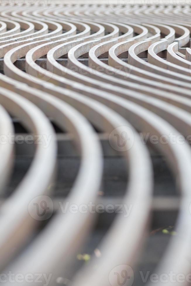 líneas curvas de metal foto