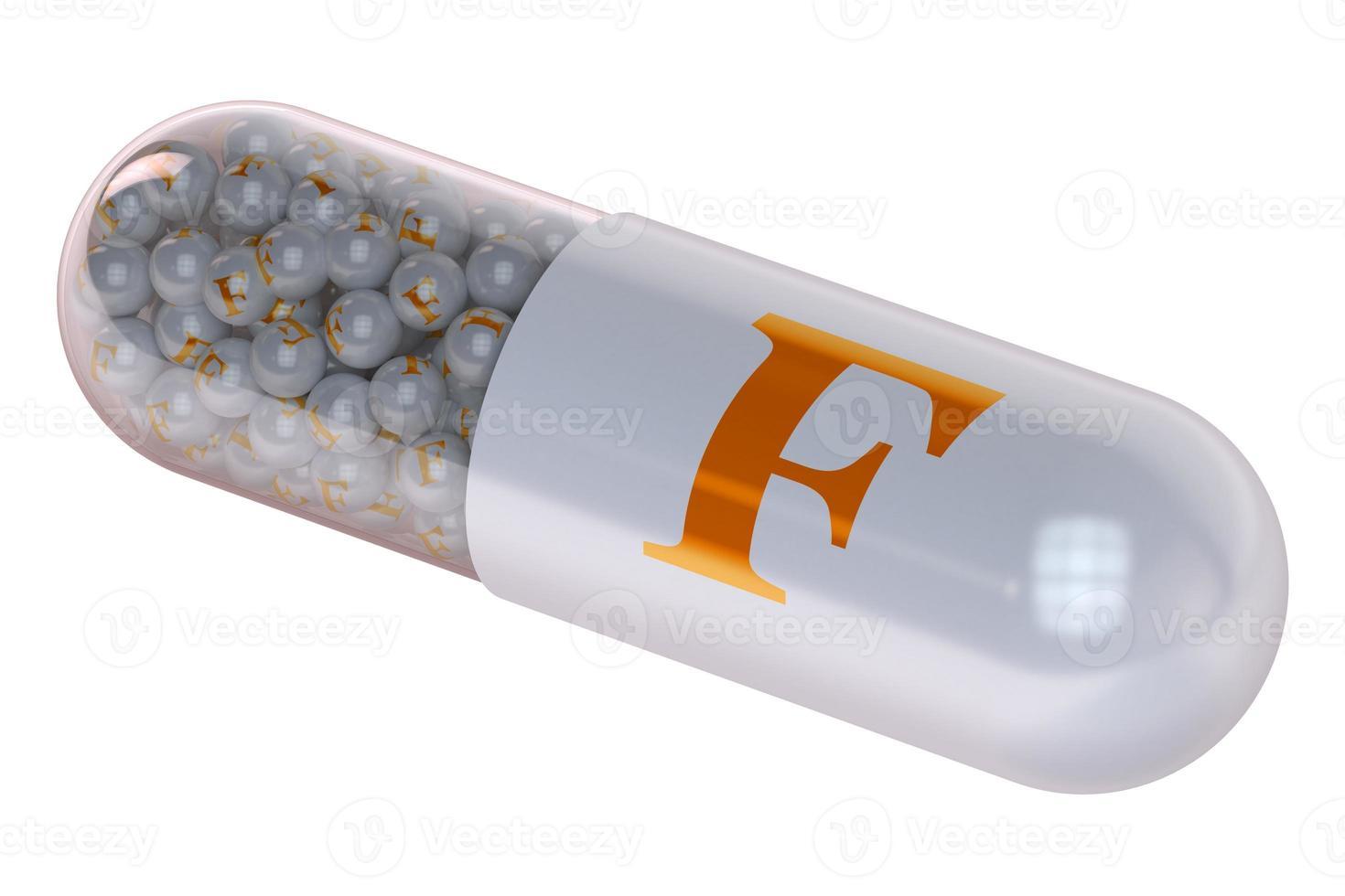 Vitaminkapsel f foto