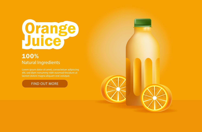 Orange Juice Advertisement  vector
