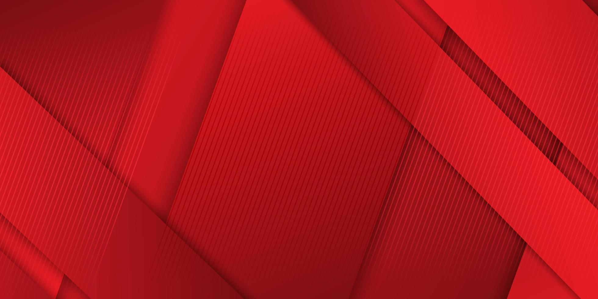 banner com tiras sobrepostas em vermelho vetor