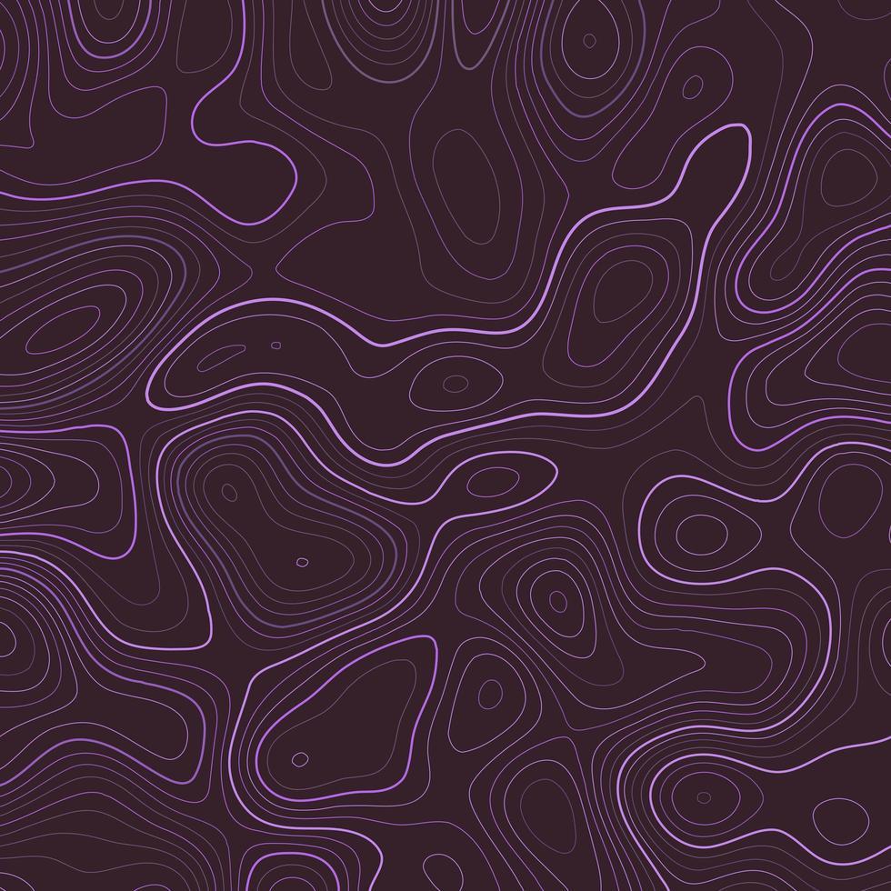 patrón de topografía abstracta púrpura vector