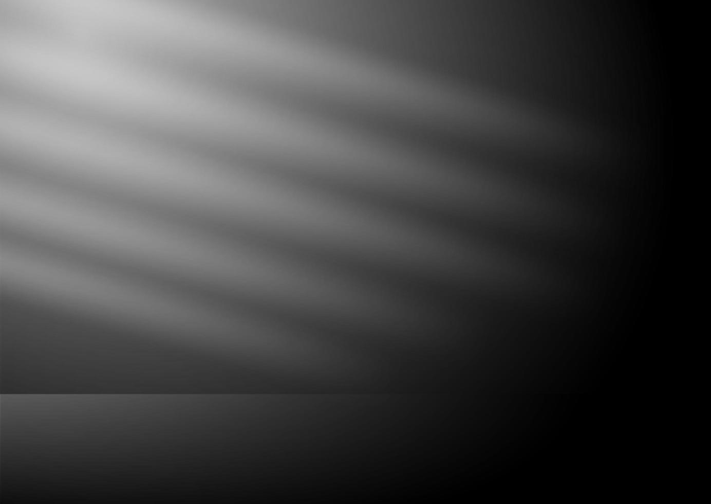 interior do quarto escuro com fonte de luz vetor
