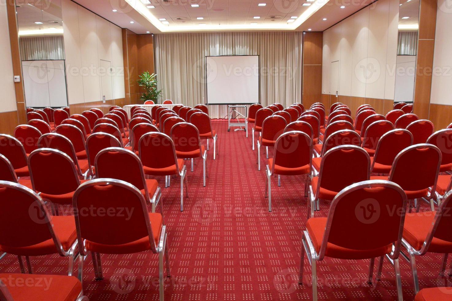 sala de conferencias vacía foto