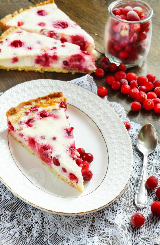 cowberry cake shortcrust pastry photo