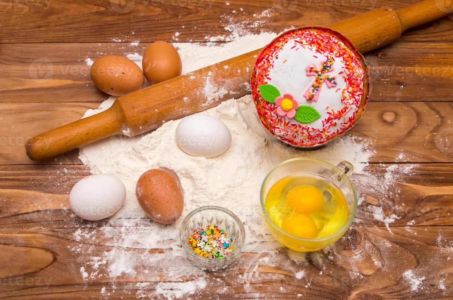 Easter bread and ingredient photo