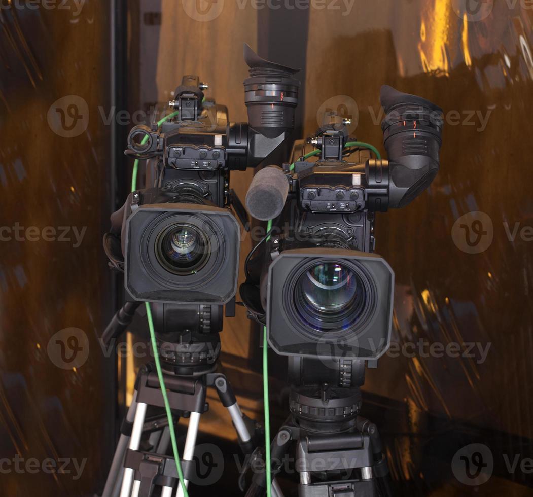 Cámara de video digital profesional. foto