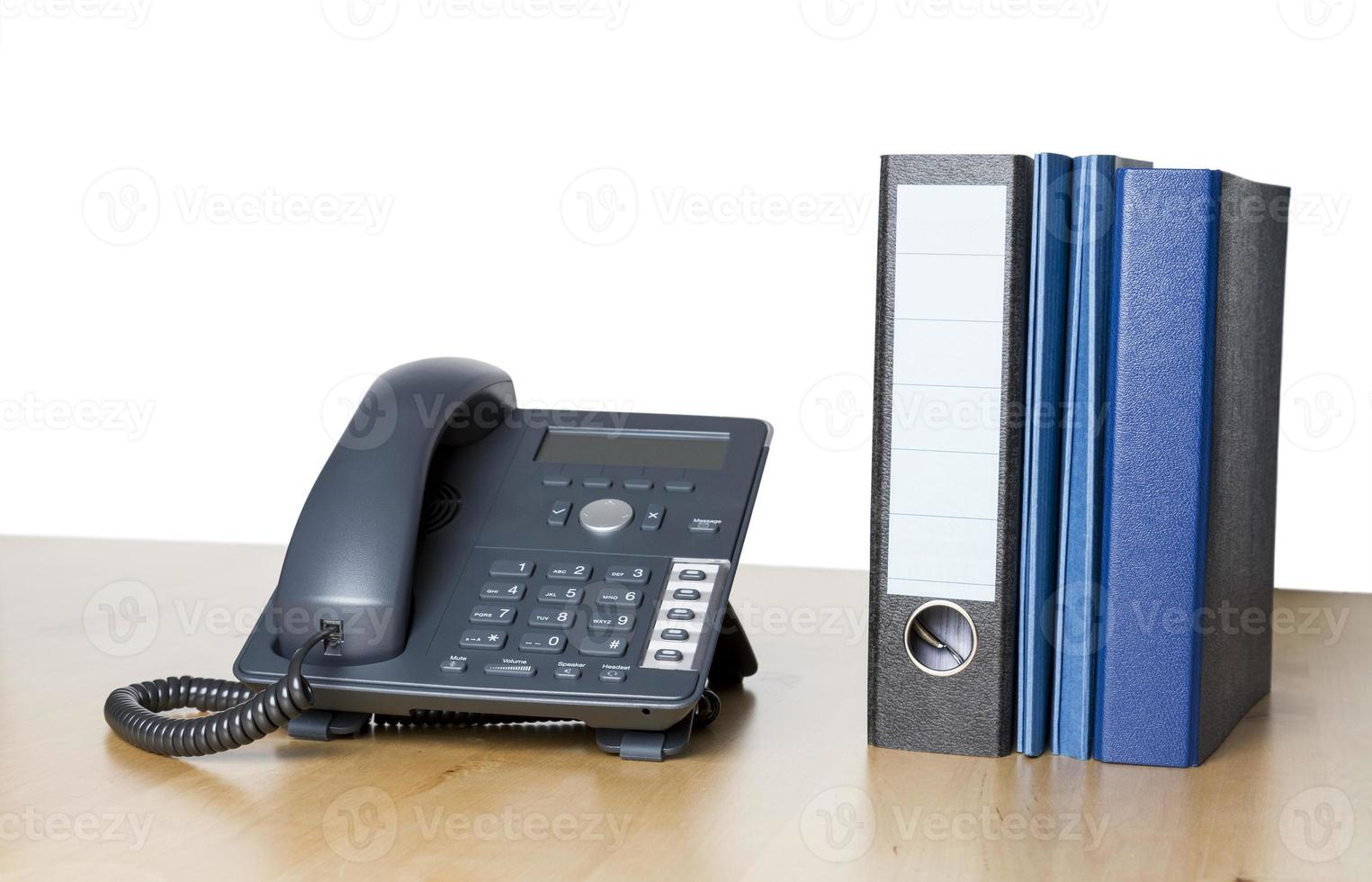 modern business phone with ring binder photo
