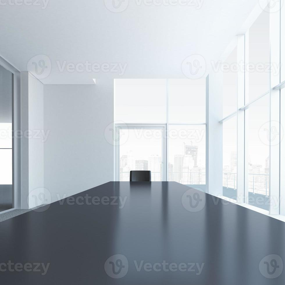 Conference table with one chair photo