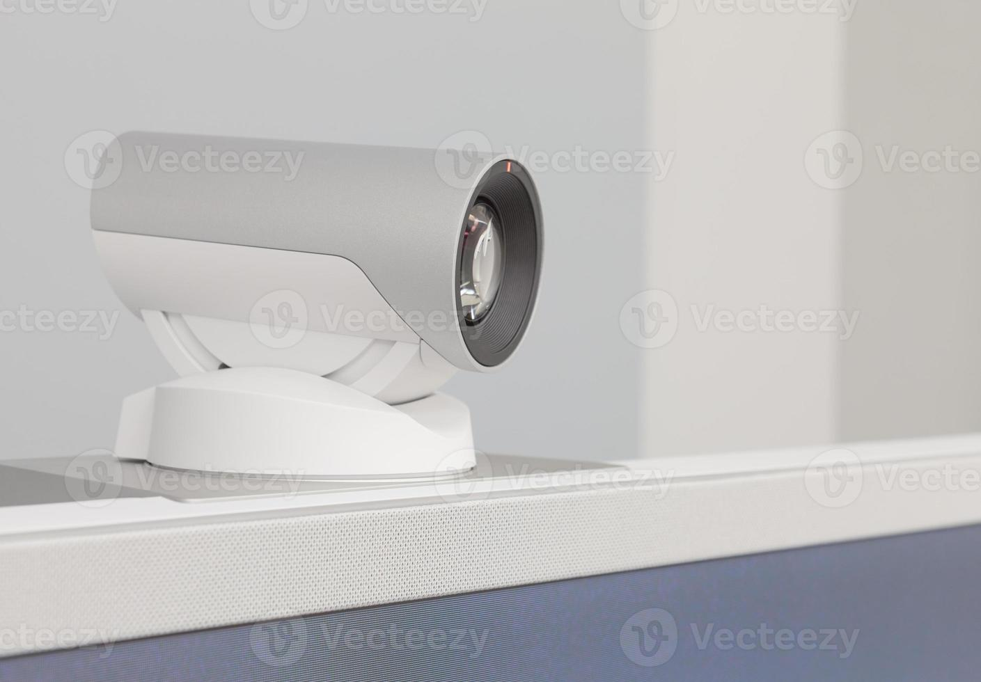 teleconference, video conference or telepresence camera closeup photo