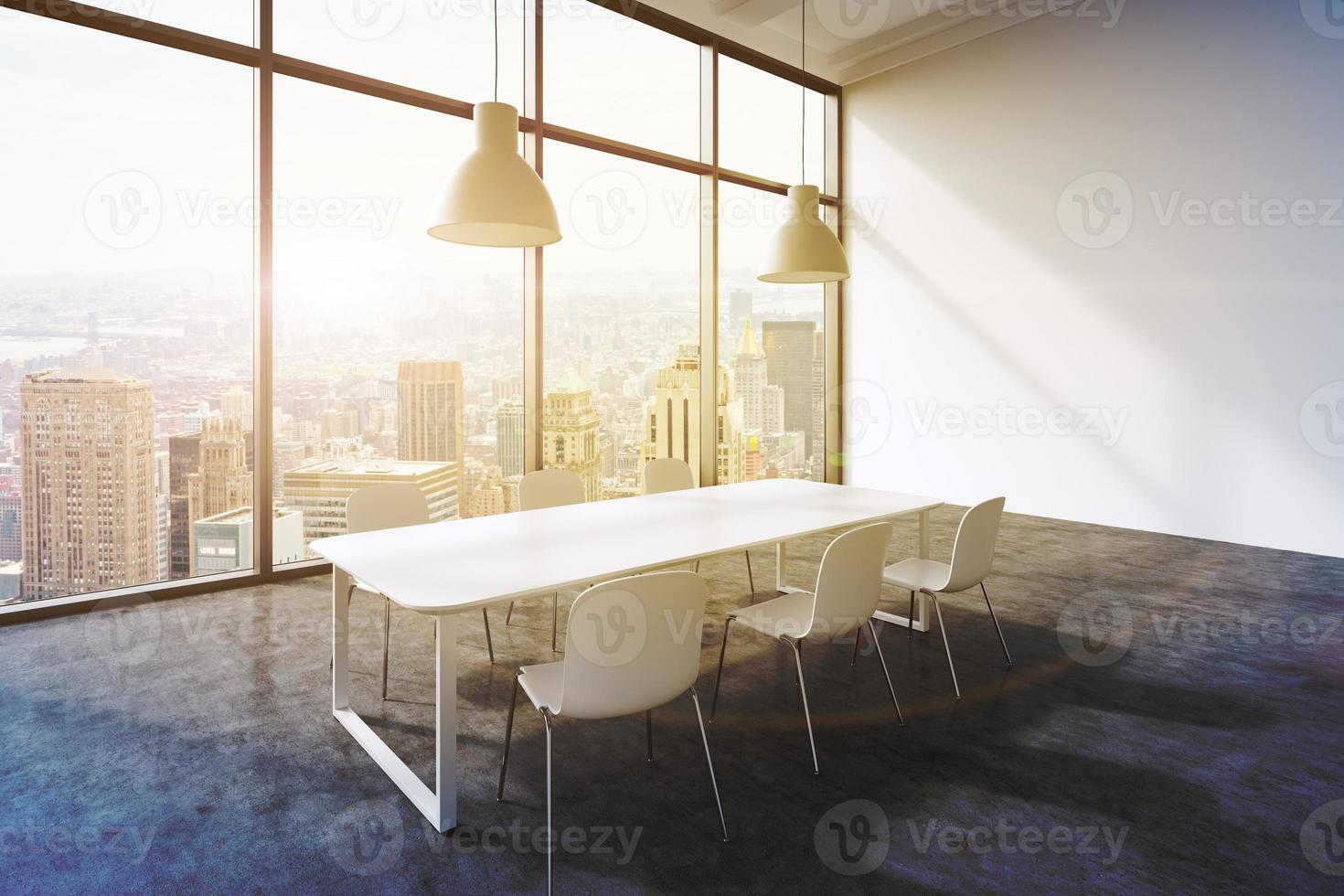conference room in a modern panoramic office photo