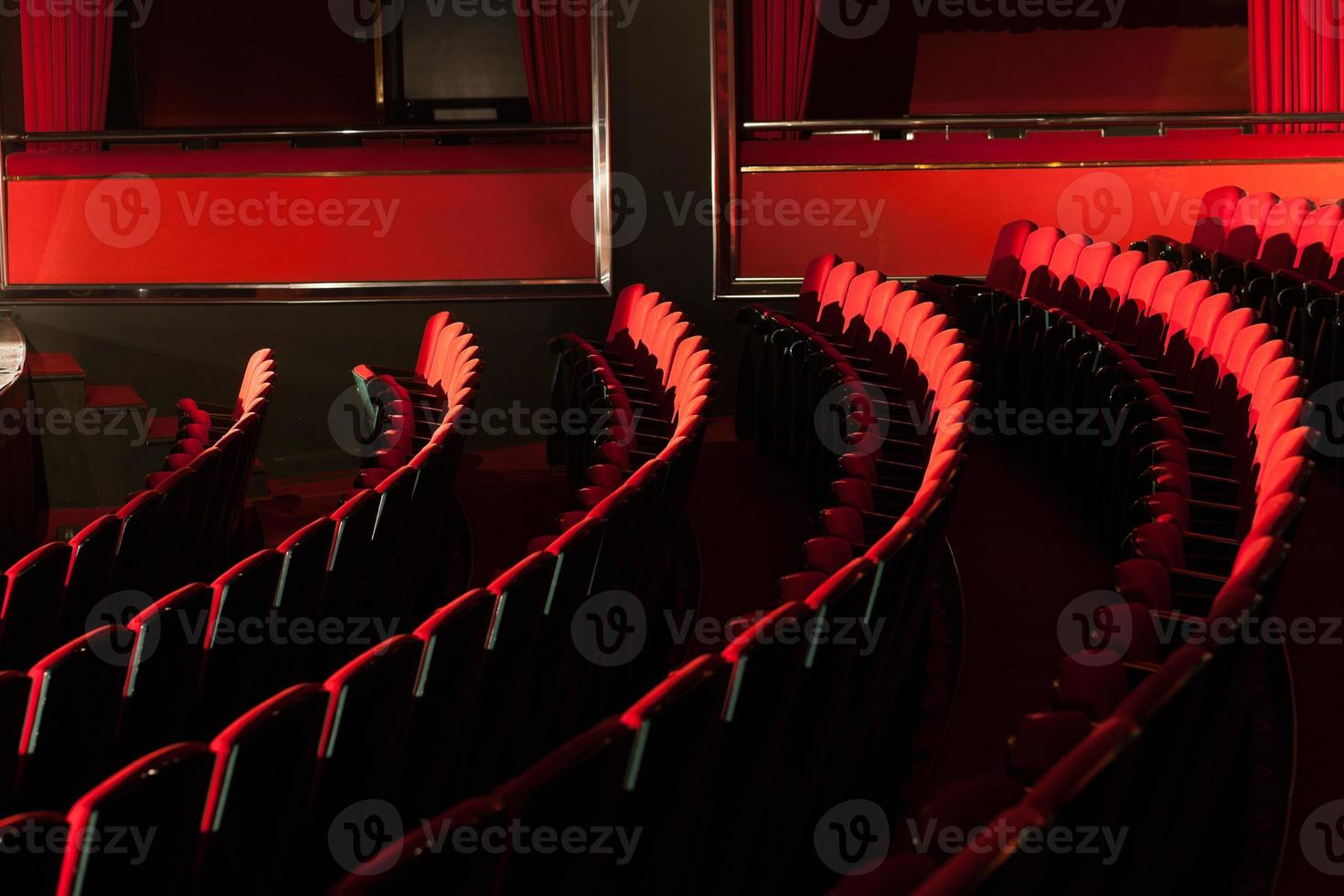 red theater seats photo