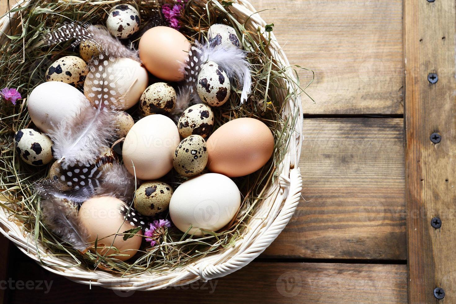 rustic easter eggs photo