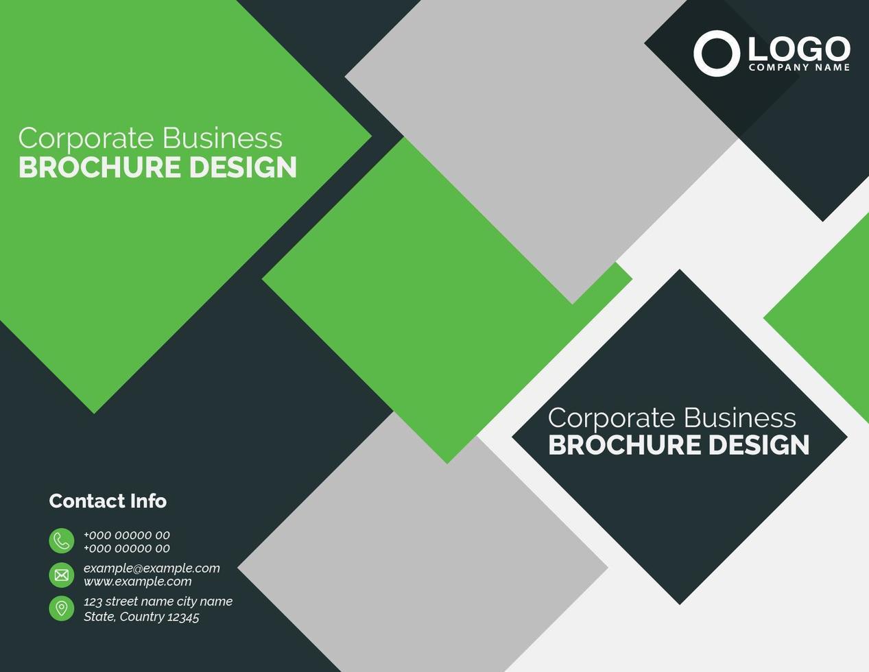 zakelijke groene en zwarte zakelijke brochureontwerp vector
