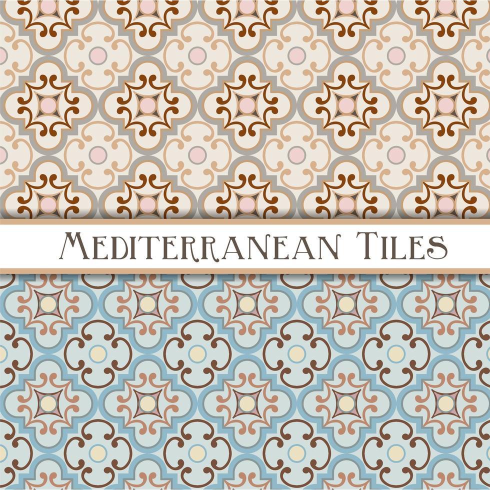 patrones geométricos mediterráneos vector