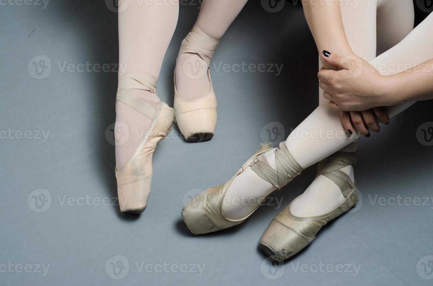 girls ballet training studio lightning pointe shoes photo