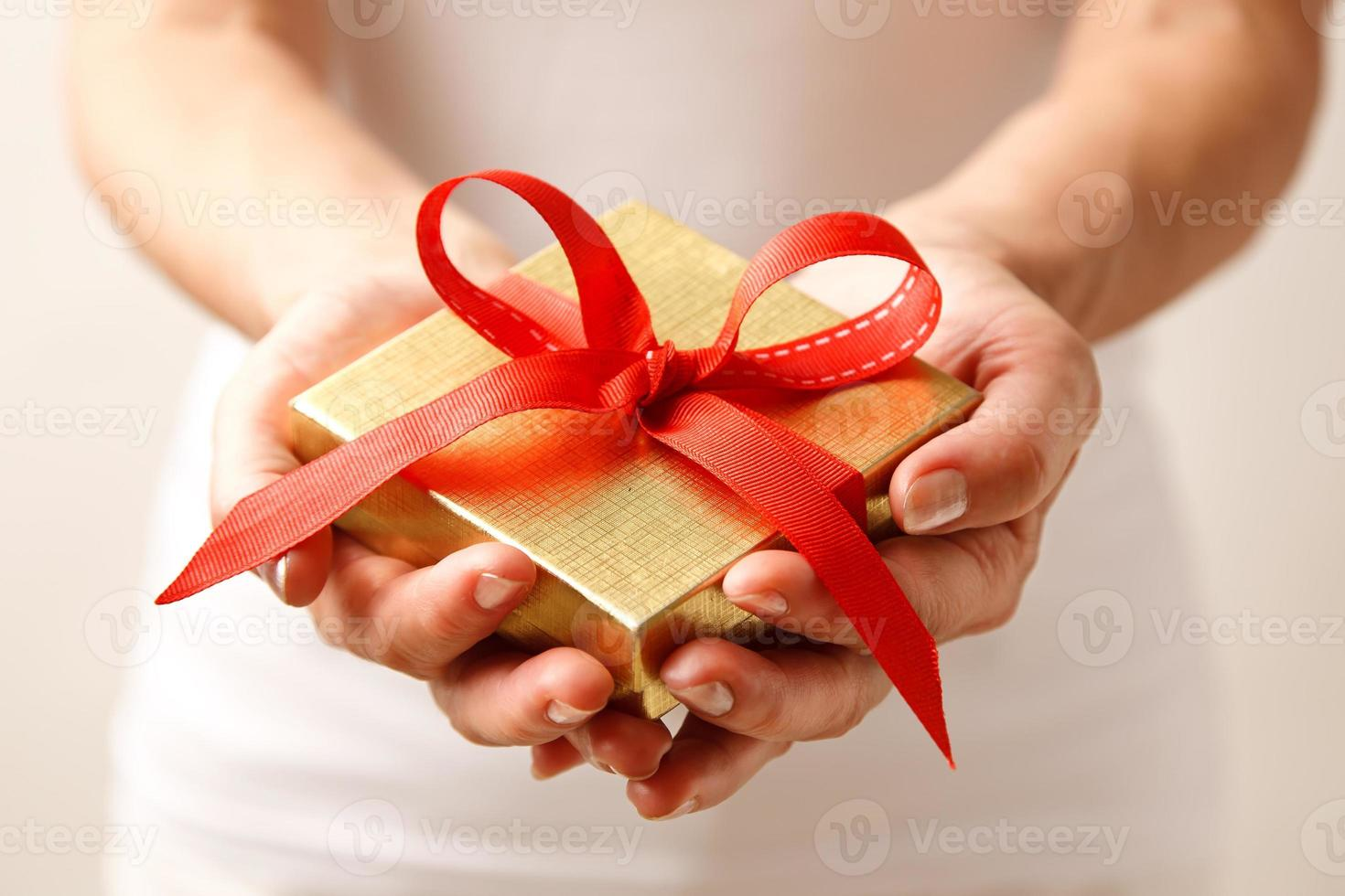 Giving a gift photo