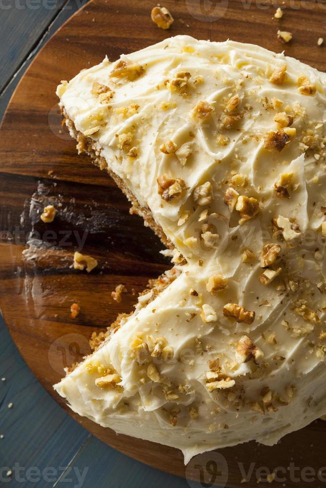 tarta de zanahoria casera saludable foto