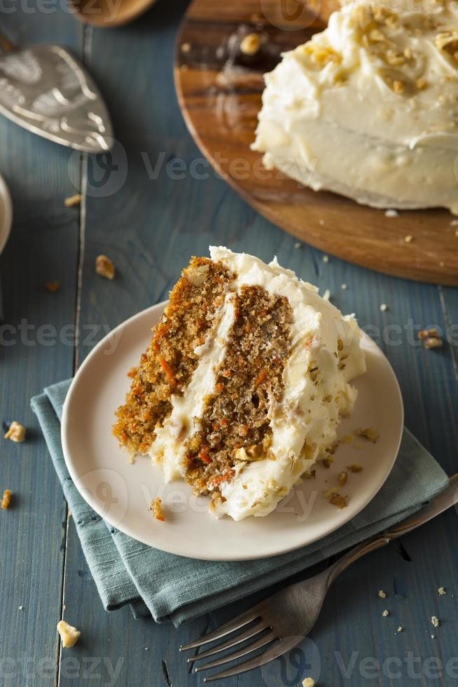 Healthy Homemade Carrot Cake photo