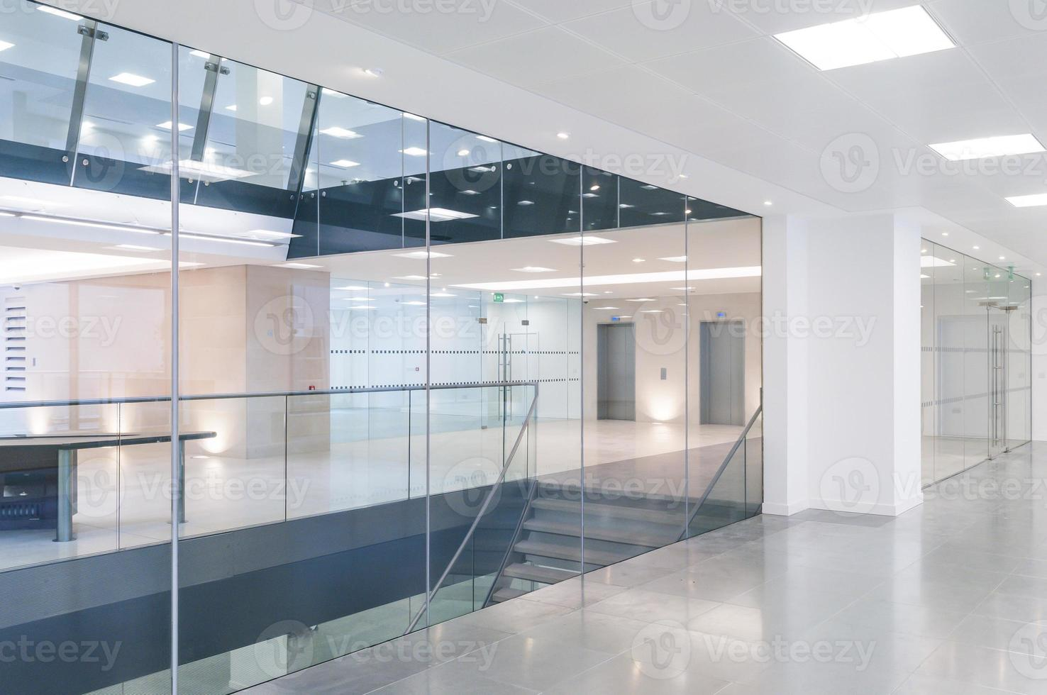 Open plan office reception photo