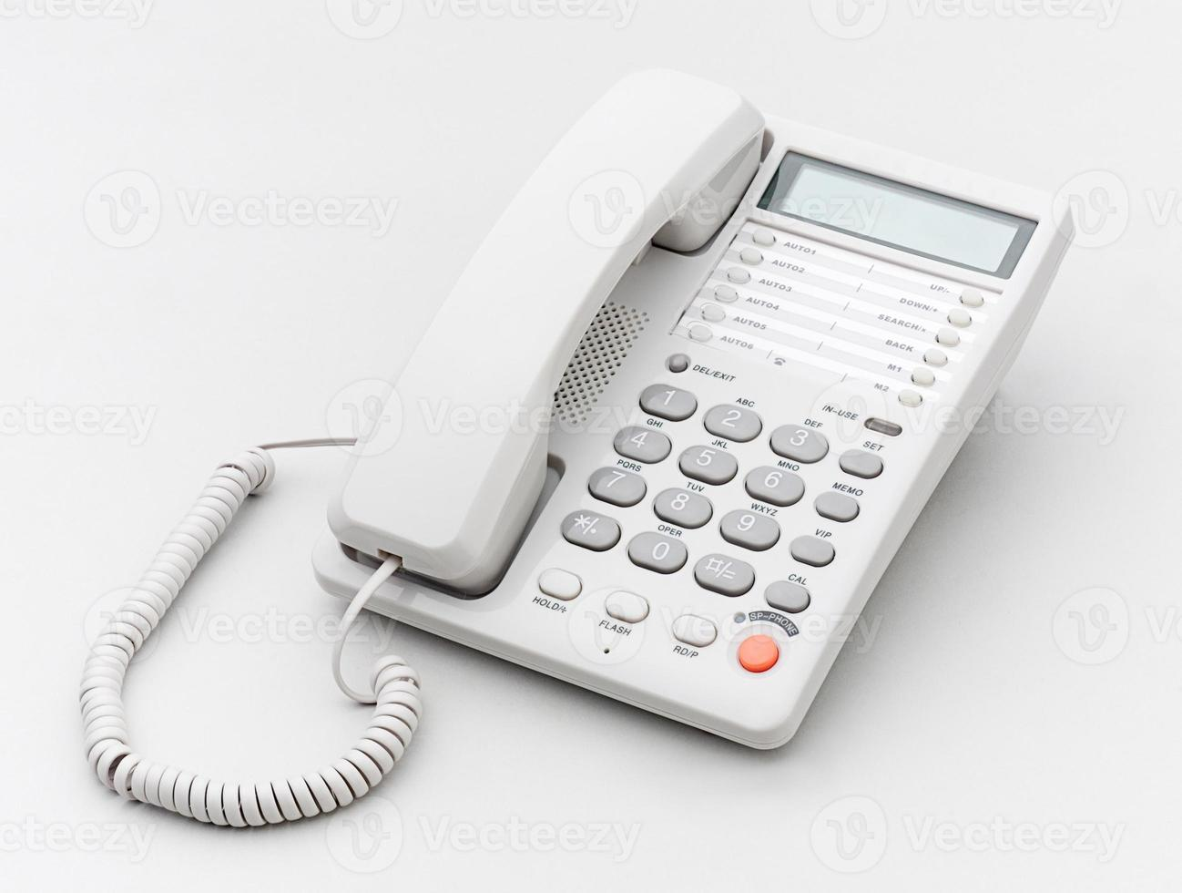 Office telephone the connecting tool isolated photo