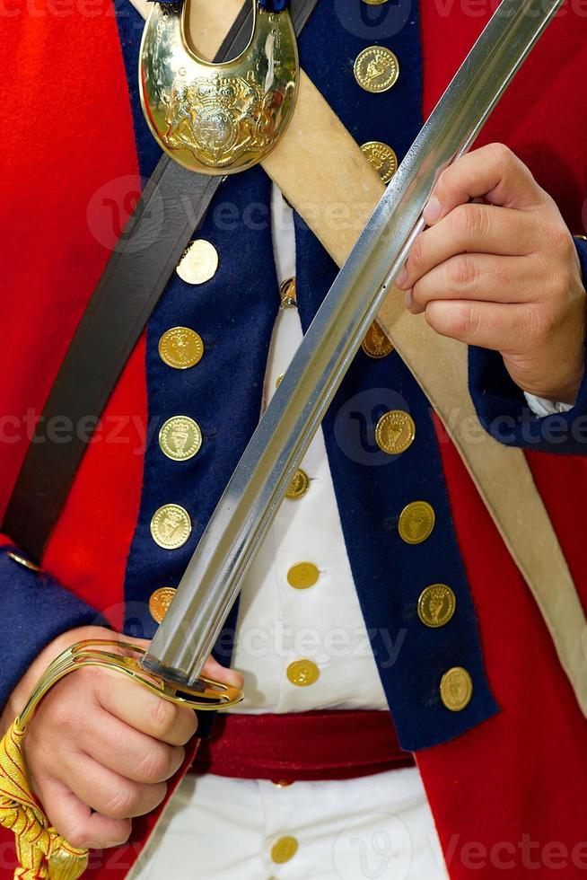 Reenactor British officer of the 18th of Foot photo