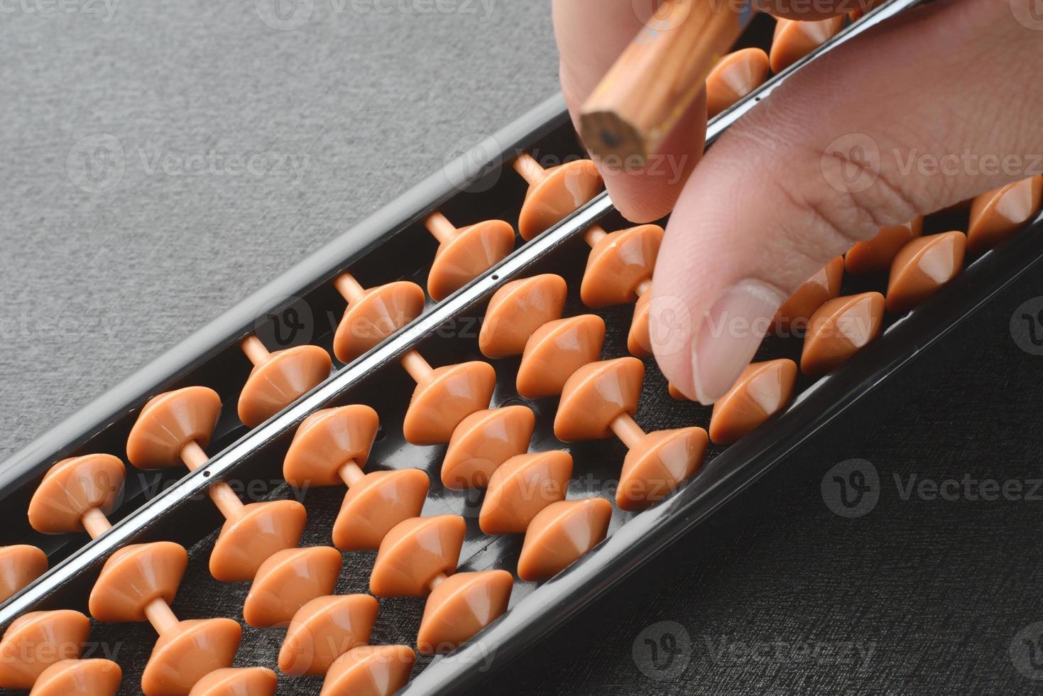 Using Japanese abacus photo