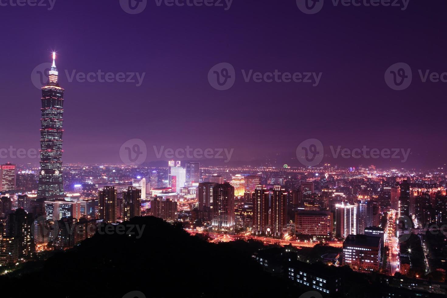 taipei, taiwán noche encantadora foto