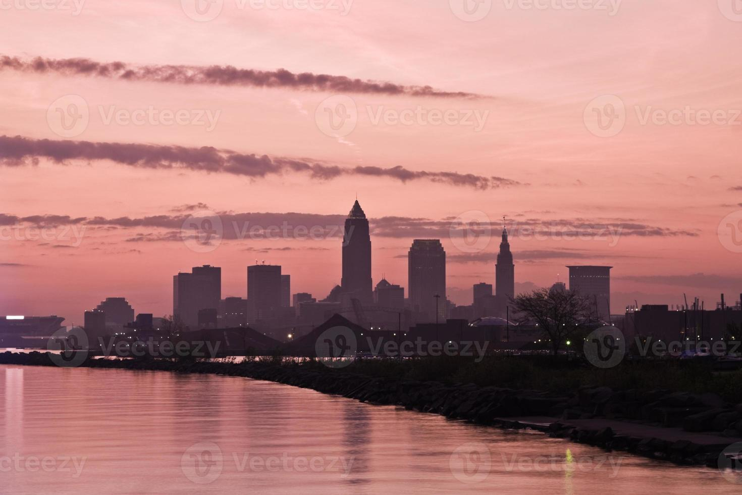 Silhouette of Downtown Cleveland photo