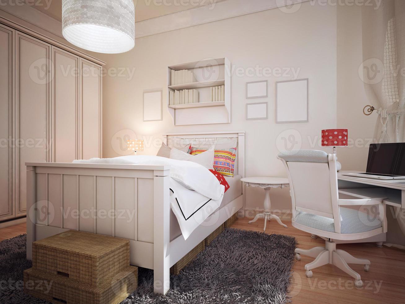 dormitorio en diseño mediterraneo foto